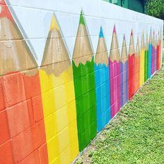 Colored pencil mural