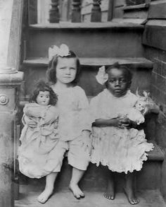 Old Photo of 2 girls with dolls | Collectors Weekly