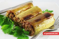 The Recipe for Leek Stuffed with Meat | Meat Dishes | Genius cook - Healthy Nutrition, Tasty Food, Simple Recipes