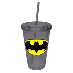 Batman Cup With Straw