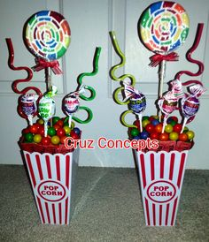 Carnival theme centerpiece decor party table