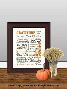 Step 1: Create Sign on Powerpoint Step 2: Save as JPEG Step 3: Print from home OR Upload to online printshop (shutterfly, winkflash) OR Save on flash drive and take to local print shop Step 4: Insert in frame! Voila! Thanksgiving Printable Art Sign!