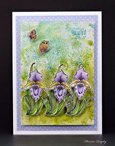 Chocolate Baroque Design Team: Awesome Orchids - Cards By Florence