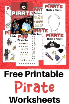 These printable pirate activities are both fun and educational. Kids will love these free printable pirate worksheets and games!