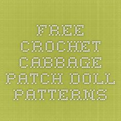 Dianas patch custom cabbage patch kids and clothing how to free crochet cabbage patch doll patterns dt1010fo