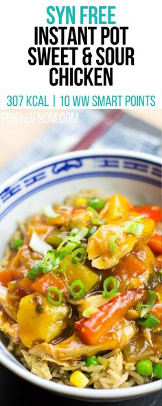 Syn free instant pot sweet and sour chicken pinch of nom slimming world recipes 307 kcal syn free 10 weight watchers smart points sugar pink food Slimming World Dinners, Slimming World Recipes Syn Free, Slimming World Diet, Slimming Worls, Slimming World Chicken Recipes, Diet Recipes, Cooking Recipes, Healthy Recipes, Healthy Food