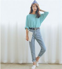 2016 Summer Style Fashion Loose Casual Candy colored Striped Long Sleeve Women s T Shirt Women on http://ali.pub/uf5mc