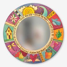 Pin de marcela juarez en mosaiquismo espejo mosaico for Espejos circulares decorativos