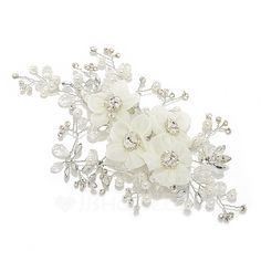 Hottest Crystal/Artificial Silk Flowers & Feathers (042055987) - JJsHouse