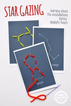 STARGAZING WITH KIDS – FREE FUN CONSTELLATION SEWING CARDS - Kids Activities