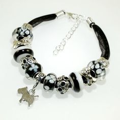 European Charm Bead Bracelet Handmade Dog Birthday by BekisBeads