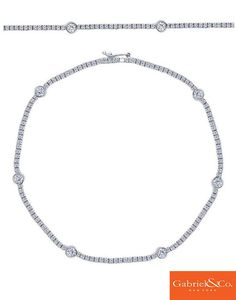 This 14k White Gold Diamond Tennis Bracelet by Gabriel & Co. is the absolute most perfect bracelet to pair for the holidays. This bracelet will stand out like no other and don't forget to pair it with a few more in gold and rose gold! Check out our Instagram and see how we are always choosing this tennis bracelet as a must have accessory!