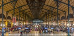 Gare du Nord ( also known as Paris-Nord) main hall- North Station in Paris, France Paris At Night, London City, Paris France, Charles Garnier, Foreign Service Officer, Paris Metro, Night Train, Second Empire, Metro Station