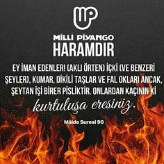 HARAM  #millipiyango #haram #piyango #ayet #islam #müslüman #uyanık #İslamiyet #ayetler #ilmisuffa
