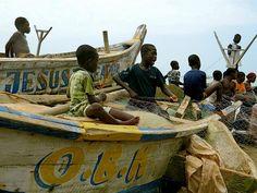 Fishermen in Accra, Ghana.