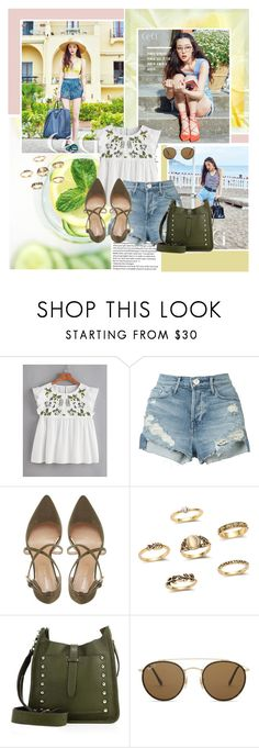 """🌼"" by angiielf ❤ liked on Polyvore featuring 3x1, Roberto Vianni, Rebecca Minkoff, Ray-Ban, Summer, kpop, sulli and kpopgirls"
