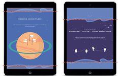 Contrast visuel du site d'xo7 avec des illustration, responsive, vectoriel, parallax