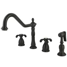 Brass Kitchen Faucet, Kitchen Handles, French Country Kitchens, French Country Decorating, Country French, French Country Collections, Oil Rubbed Bronze Faucet, Led Licht, Kingston Brass