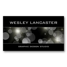 CLICK ON THE LARGER IMAGE TO SEE PRICING INFORMATION - - Stylish and chic bokeh design profile card business card