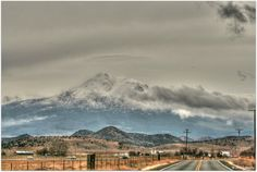 Storm clouds gathering as we head to Mount Shasta on the I5 from Yreka...