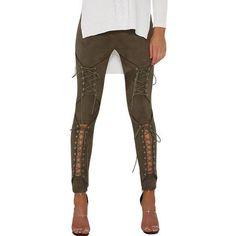 Suede Lace Up Bandage Leggings  54.00 Suede Leggings b3b23da40