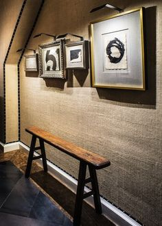 burlap as a texturing wall solution