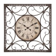 Woodland Imports�Roman Numeral Wall Clock/Lowes