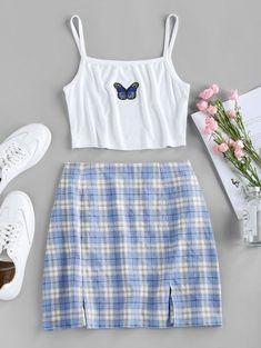 Cute Comfy Outfits, Cute Girl Outfits, Retro Outfits, Girly Outfits, Stylish Outfits, Woman Outfits, Club Outfits, Girls Fashion Clothes, Teen Fashion Outfits
