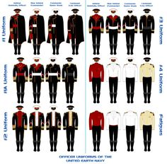 UEN Officers' Uniforms by Leovinas
