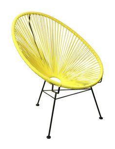 SCOOP CHAIR (Yellow) - Bohemio - $250