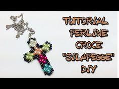 "TUTORIAL PERLINE CROCE  ""SILAPEGGE"" DIY - YouTube"