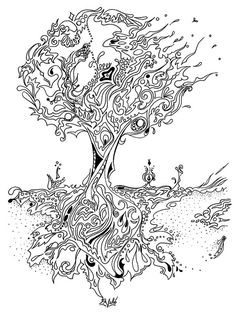 coloring book pine tree - Google Search
