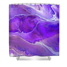 Abstract Fluid Acrylic Painting Shower Curtain for Sale by Jenny Rainbow Artwork For Home, Home Art, Painting Shower, Curtains With Rings, Curtains For Sale, Fluid Acrylics, Basic Colors, Abstract Pattern, Shower Curtains