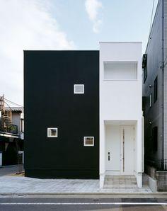 黒い箱と白い箱・間取り(東京都葛飾区) |ローコスト・低価格住宅|狭小住宅・コンパクトハウス | 注文住宅なら建築設計事務所 フリーダムアーキテクツデザイン