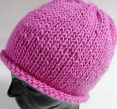 October is Breast Cancer Awareness Month! Buy this hot pink hat for only $22 at   https://www.etsy.com/shop/5thAveFibers?ref=hdr_shop_menu