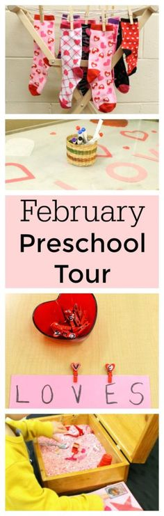Great Valentine's Day activities for preschoolers! Practice numbers and letters! Come tour this preschool classroom to find loads of activities for preschoolers perfect for at home or at school!