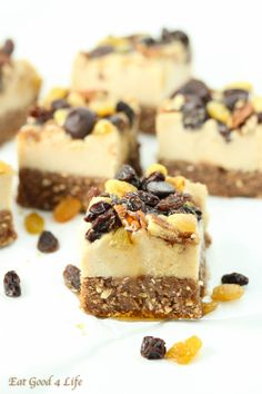 No bake raisin cheesecake-gluten free and vegan