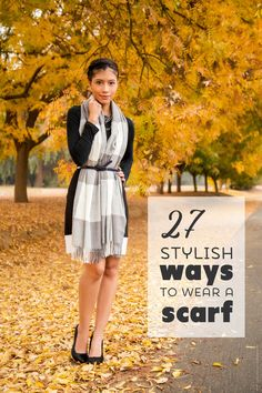 27 Stylish Ways to Wear a Scarf - Click to View all 27 Outfits on Stylishlyme.com