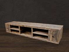 Reclaimed Wood Media Console / TV Stand by AtlasWoodCo on Etsy