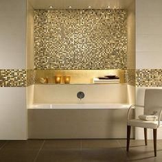 This bathroom has the wow factor ! Decadent and luxurious #blingbling