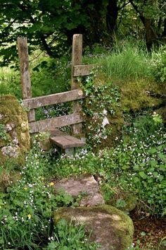 Country Green and Brown - Dartmoor Stile by Sue Sunderland Garden Gates, Garden Bridge, Country Life, Country Living, Country Style, Country Fences, Country Roads, Old Fences, Dartmoor