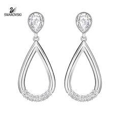 Swarovski Pave Crystal Pierced Earrings ENDGAME Rhodium #5199811