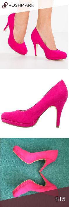 💖💖 Pink Heels Tamaris Used - but in great condition! Super comfortable! Tamaris Shoes Heels