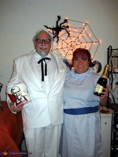 Colonel Sanders and Wendy - 2013 Halloween Costume Contest