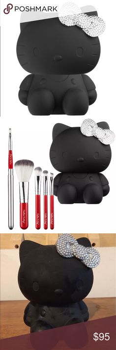 Sephora x Hello Kitty Noir 5-piece Brush Set This is for a brand new, never used Sephora x Hello Kitty Noir 5-Piece Brush Set. It is very rare and hard to find. I bought this years ago when it was on sale from Sephora but just never used it. We're doing some major cleaning and while it is very cute, it is time to part ways. Item comes from a smoke-free and pet-free home. While I no longer have the original packaging, the item has never been used and is in excellent condition. Please feel…