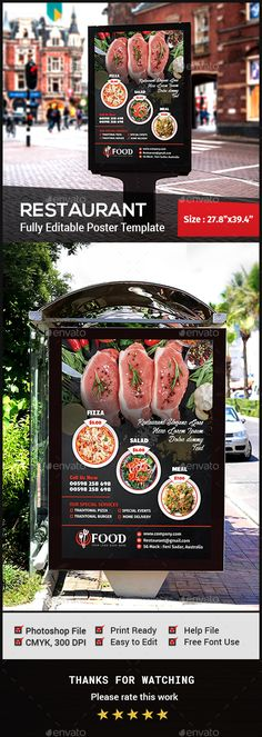 Restaurant Advertising Bundle Vol1 Restaurants, Template and - advertising poster templates