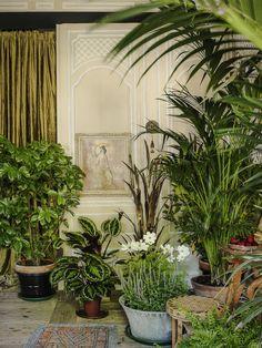 when a corner of a room is your garden~room ~*~ Little Venice, London Indoor Garden, Indoor Plants, Home And Garden, Deco Bobo Chic, Pot Jardin, Deco Nature, Decoration Plante, Exposed Brick Walls, Filming Locations