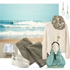 """Oh, how I long to walk along the ocean in the cool autumnal breezes and surf. And with Pinterest I can have the perfect outfit --""""Fall Beach Walk"""" by simple-wardrobe on Polyvore"""