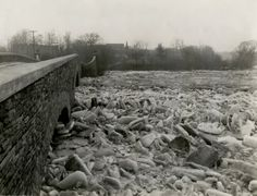 A cold Friday winter view of the Humber River, looking west from east end of bridge between Catherine Street and Old Mill Road, Toronto, Hurricane Hazel, Catherine Street, Toronto Ontario Canada, History Pics, Snow Art, Bridge, Backyard, Cold, River