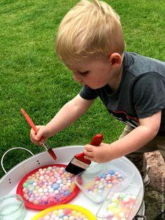 Frozen Water Beads Sensory Play for Preschoolers